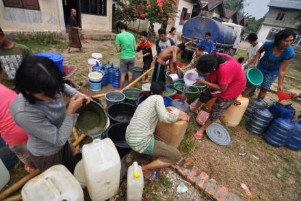 Bantuan air bersih dari pemerintah kabupaten bandung